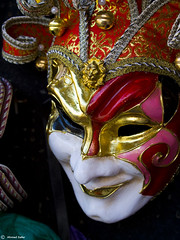 Mask of the Joker (Ahmed-ID) Tags: venice italy macro art history 35mm colours mask id details culture souvenir ornaments plays ahmed safer