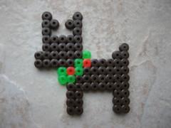 Perler Bead Reindeer (Kid's Birthday Parties) Tags: christmas reindeer beads rudolph perlerbeads