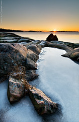 Ice above the sea (Rob Orthen) Tags: winter sea sky rock sunrise suomi finland landscape dawn nikon europe scenic rob tokina scandinavia talvi dri meri maisema vesi pinta d300 kirkkonummi gnd 1116 digitalblending porkkala nohdr leefilter orthen roborthenphotography tokina1116 tokina1116mm28 seafinland 09hardgrad