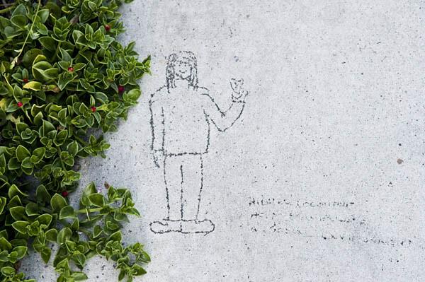 Newport Beach Sidewalk Drawing