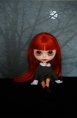 25/52 Weeks of Blythe (Zaloa27) Tags: moon art night dark photography evening doll blythe custom redhair sbl modmolly zaloasstudio zaloa27