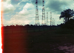 Antenna (fuzk23) Tags: colour film panoramic lightleak negatives antenna horizont antennafarm