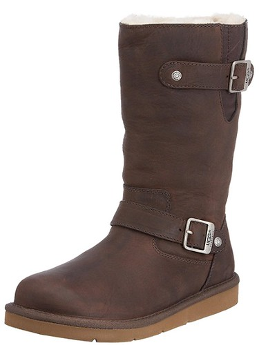 UGG Women's Kensington Black Motorcycle Boots