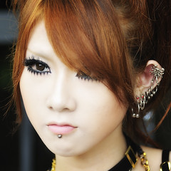 SCORPION (ajpscs) Tags: street portrait color eye girl face fashion japan hair asian japanese tokyo nikon asia eyelashes cosplay streetphotography lips harajuku kawaii  pierce nippon  earrings    d300    ajpscs kosupure
