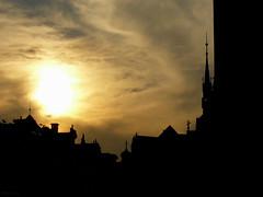 Praha's sunset (_EdG_) Tags: sunset orange contrast europa europe tramonto praha praga czechrepublic repubblicaceca 5photosaday