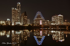 Processed with HDR Efex Pro ~ Austin Skyline (Ellen Yeates) Tags: bridge lake reflection building water colors skyline night austin photography gold town ellen downtown texas software nik non hdr compare yeates photomatix nonhdr niksoftware hdrefexpro