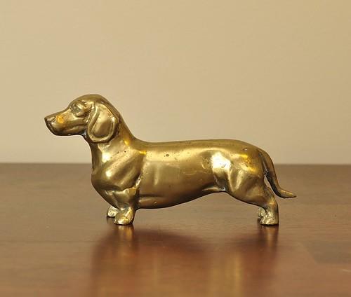 Sweet brass dachshund