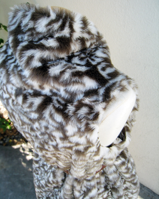 Asymmetrical Faux Fur Vest DIY - belted - top