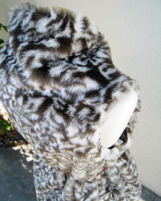 Asymmetrical Faux Fur Vest DIY - belted - top