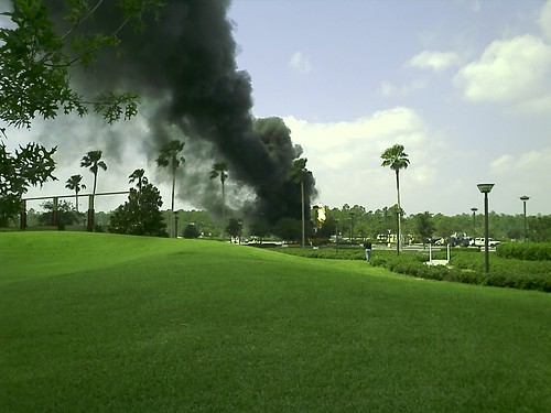 Fire at Walt Disney World