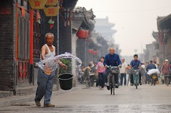 Good morning Pingyao (Luo Shaoyang) Tags: china street nikon dof action chinese unesco  pingyao madeinchina streetshot  luo    actionphotos nikond200 luoshaoyang mainlanderchina