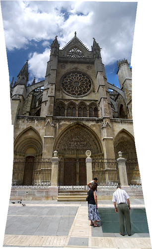 León Cathedral Vertical Panorama