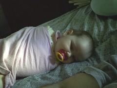 Talia sleeping
