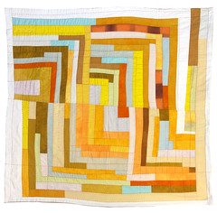 Color Study: Log Cabin 2 ~ 2007 (daintytime) Tags: abstract art modern quilt logcabin cs improv quilts improvised improvisational liberated colorstudies handdyed colorstudy artquilts abstractartaward
