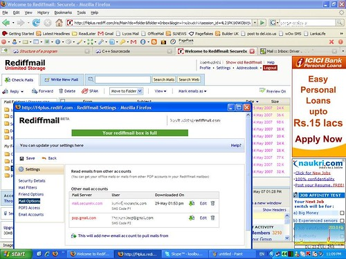 Rediffmail Account is Full :-)
