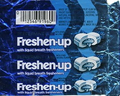 Peppermint Freshen-up gum wrapper