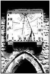 Sundail Eyam Church (Waka Jawaka) Tags: bw church district derbyshire peak sundial eyam