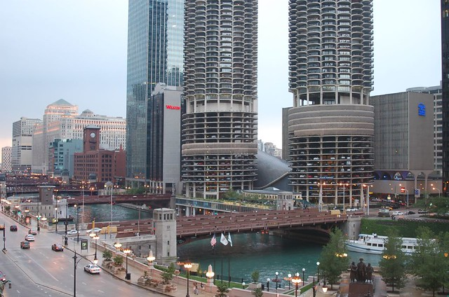 Chicago, Illinois (River, Marina Towers, House of Blues)