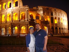Mike and Lude infront of the Colisseum (michaelbrussow) Tags: rome roma colisseum