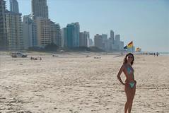 Praia de Broadbeach em Gold Coast, Australia