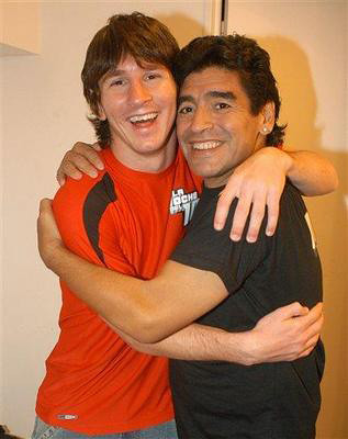 Messi & Maradona por hitspor.