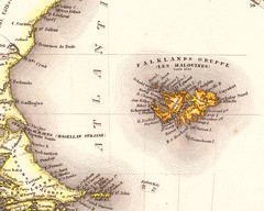 South Atlantic old map