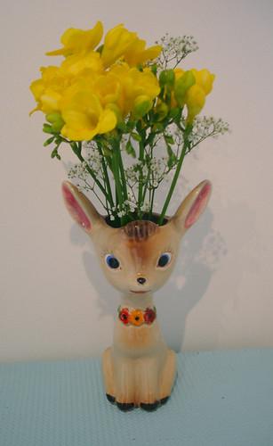 deer vase by clare nicolson
