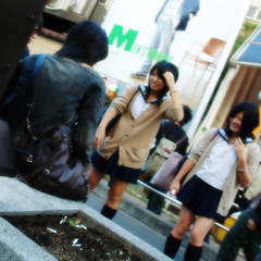mimetismo (00:01 new day) Tags: school girls people japan tokyo shibuya lifestyle japon