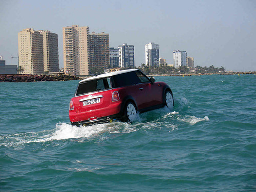 mini at sea