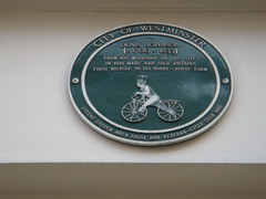 Photo of Denis Johnson green plaque