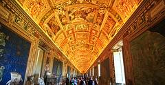 To Infinity and Beyond (` Toshio ') Tags: people italy vatican rome building art europe catholic interior infinity maps religion perspective tourists ceiling cartography hdr europeanunion vaticanmuseum vaticancity toshio galleryofmaps