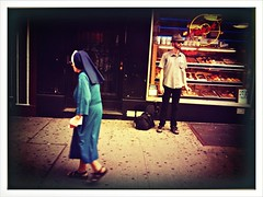 """The Nun and the Hipster"" (Sion Fullana) Tags: nyc people urban newyork painterly hat colorful artistic creative hipster streetlife nun 14thstreet allrightsreserved newyorkers iphone likeapainting urbanshots urbannewyork beardedhipster iphonephotography iphoneshots sionfullana iphoneography iphoneographer editedanduploadedoniphone pictureshowapp swankolabapp edgarhoppertribute nuninblueoutfit throughthelensofaniphone"