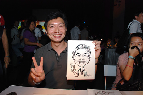 caricature live sketching for SDN First Anniversary Bash - 20