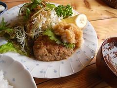 珈琲舎 ハイジ「和風ハンバーグ定食」(850円)