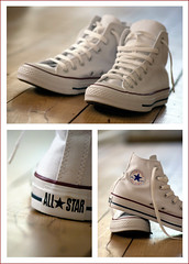 [Chuck Taylor All Star Core Hi] (RHiNO NEAL) Tags: white classic shoes triptych canvas converse rhino sneaker hi allstar chucks core laces neal chucktaylor rhinoneal