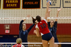 NCAA Volleyball (n8xd) Tags: girls college sports female ball women university action michigan womens iso volleyball svsu ncaa volley midland northwood collegiate 2010 vollyball pallavolo saginaw voleibol plfoli glvc  siatkwka 12800  volleyboll iso12800  gliac d3s  microwavephoto volleyeuse  northwoodfocus   eitpheil