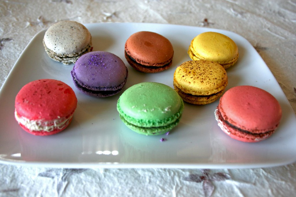 Plate of macarons!