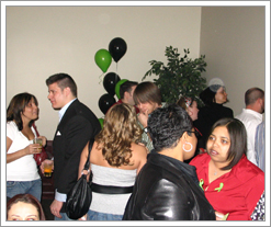 Partyers at the Keith Hamm Memorial Fundraiser