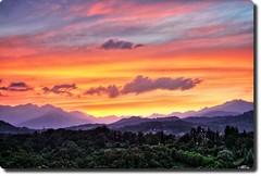 Valdengo Jurassic Sunset (! .  Angela Lobefaro . !) Tags: italien blue sunset red sky italy love topf25 topv111 topv2222 architecture countryside topf50 topv333 topf75 bravo italia nuvole quality topv1111 country  topv999 dream gimp himmel wolken romance bleu campagna piemonte ciel nubes linux romantic angela chateau nuages topv3333 biella to