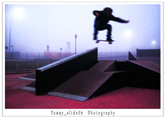 Fs Hollie on the Gap (tommy_slide06) Tags: park shadow sky man colour misty ramp colore darkness ombra foggy skate hollie colourartaward