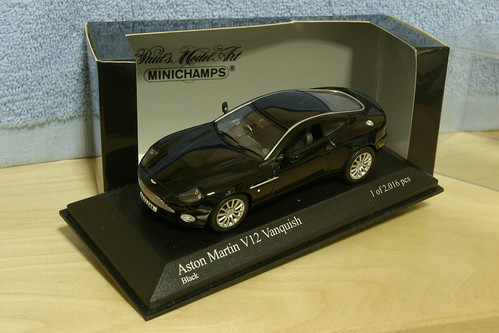 Aston Martin Vanquish Black. Aston Martin Vanquish Black. Minichamps