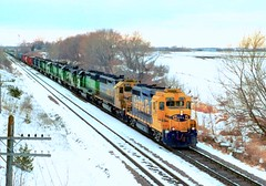 Santa Fe GP30 leads 9 other locomotives with an eastbound freight train from Willmar, Minnesota, on the tracks of the former BN, ex-Great Northern Railway, December 1998 (Ivan S. Abrams) Tags: arizona santafe minnesota ivan trains flagstaff getty freighttrains clovis abrams railways tehachapi bnsf belen locomotives cajon gettyimages railroads abo willmar smrgsbord tucsonarizona burlingtonnorthern atsf warbonnet greatnorthern gp30 riordan 12608 kandiyohicounty ustrains onlythebestare dieselelectriclocomotives ivansabrams trainplanepro minnesotarailroads pimacountyarizona safyan arizonabar arizonaphotographers ivanabrams cochisecountyarizona tucson3985 gettyimagesandtheflickrcollection copyrightivansabramsallrightsreservedunauthorizeduseofthisimageisprohibited tucson3985gmailcom ivansafyanabrams arizonalawyers statebarofarizona californialawyers copyrightivansafyanabrams2009allrightsreservedunauthorizeduseprohibitedbylawpropertyofivansafyanabrams unauthorizeduseconstitutestheft thisphotographwasmadebyivansafyanabramswhoretainsallrightstheretoc2009ivansafyanabrams abramsandmcdanielinternationallawandeconomicdiplomacy ivansabramsarizonaattorney ivansabramsbauniversityofpittsburghjduniversityofpittsburghllmuniversityofarizonainternationallawyer