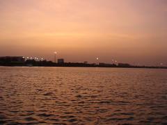 sunset of persian golf ( kish)