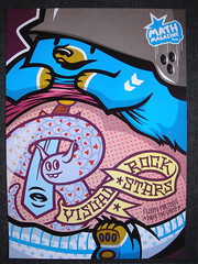 "visual rock stars placard ""flying fortress & dave the chimp"" (Pasota.com) Tags: street streetart art rock dave print poster stars flying teddy chimp visual fortress troops placard"