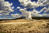 old faithful (richietown) Tags: topf25 topv111 clouds canon landscape topv555 topv333 oldfaithful topv777 geyser 90 hdr minutes 30d sigma1020mm 3xp photomatix mywinners richietown anawesomeshot yellowstonenationalparkevery