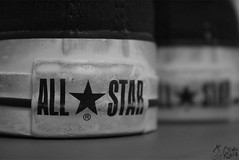 [ U cant b ME im a Rock Star !] (S) Tags: bw black rock cherry skulls star shoes rockstar converse allstar