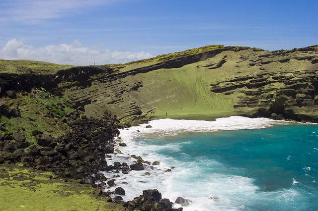 the green sand beach