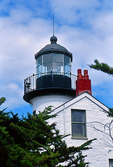 Point Pinos Lighthouse (Kurt Preissler) Tags: ocean california lighthouse tower beach northerncalifornia faro coast pacific terrace balcony shoreline historic patio veranda pch highway1 shore balconies nautical seashore vuurtoren leuchtturm lamer balustrade pharo historicbuilding seaboard dasmeer kurtpreissler preisslermediaservices lighthousetrek