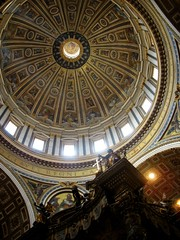 Inside St. Peter's Basilica (bekahpaige) Tags: italy vatican stpeters rome roma church architecture europe italia catholic searchthebest cathedral basilica cupola dome fv10 stpetersbasilica vaticancity basilicadisanpietro highaltar blueribbonwinner supershot 10faves anawesomeshot aplusphoto travelerphotos