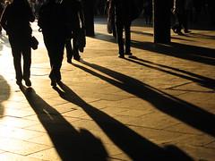 Long shadows (fotonics) Tags: street people night europe stockholm sverige fav 2007 maybemoo